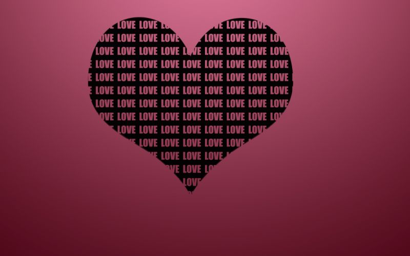 Love hearts kiss couple valentine's day heart wallpaper