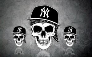 NY Cap Skull Hip Hop La Coka Nostra Rap Dark Wallpaper
