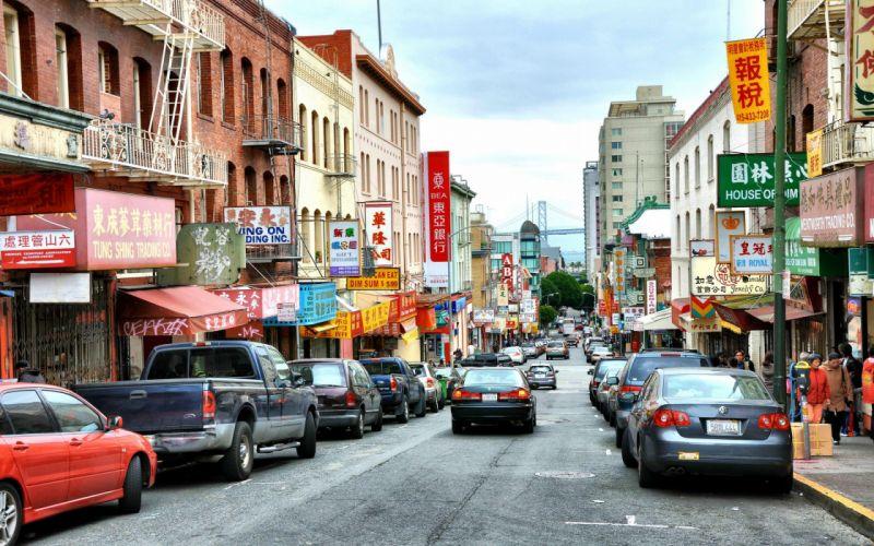 San Francisco California Chinatown cities wallpaper