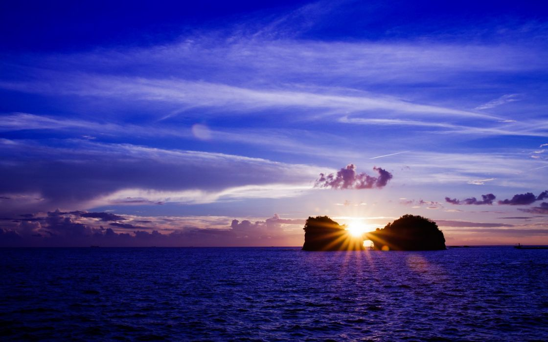 sea aeYaeY water  sky  sun  sunset  landscape ocean wallpaper