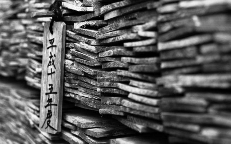 Asian BW Macro Wood wallpaper