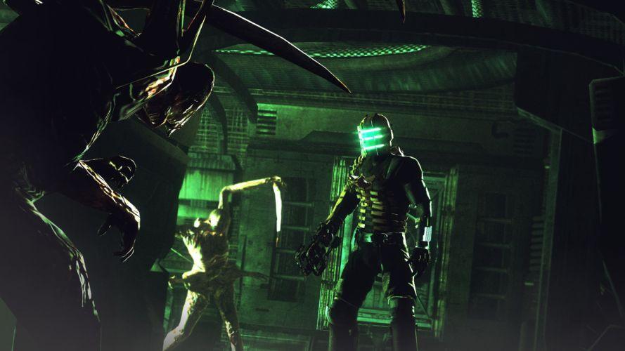 Dead Space Monsters Warriors Armor sci-fi wallpaper
