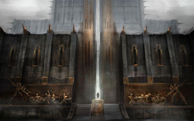 Dragon Age Tower Drawing fantasy wallpaper