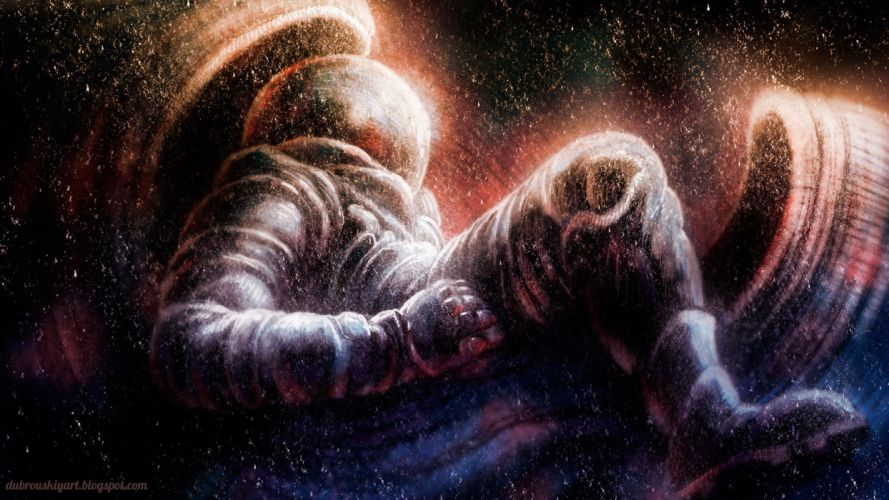 Drawing Astronaut wallpaper