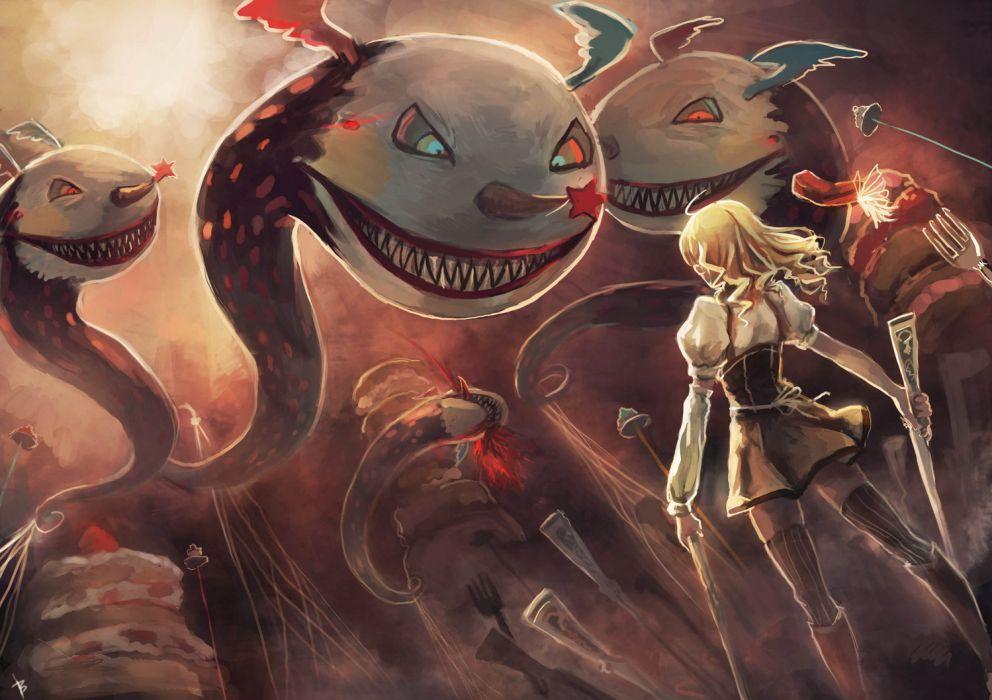 Puella Magi Madoka Magica Anime Drawing Wallpaper
