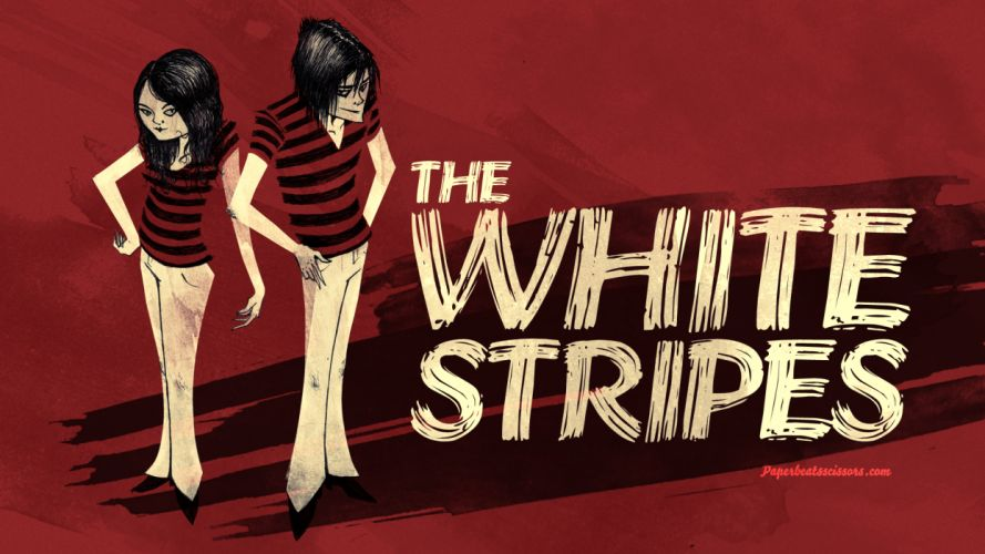 The White Stripes Red Drawing wallpaper