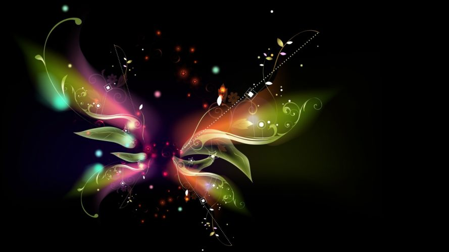 abstract butterfly wings black background vector wallpaper