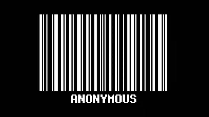 anonymous barcode text wallpaper