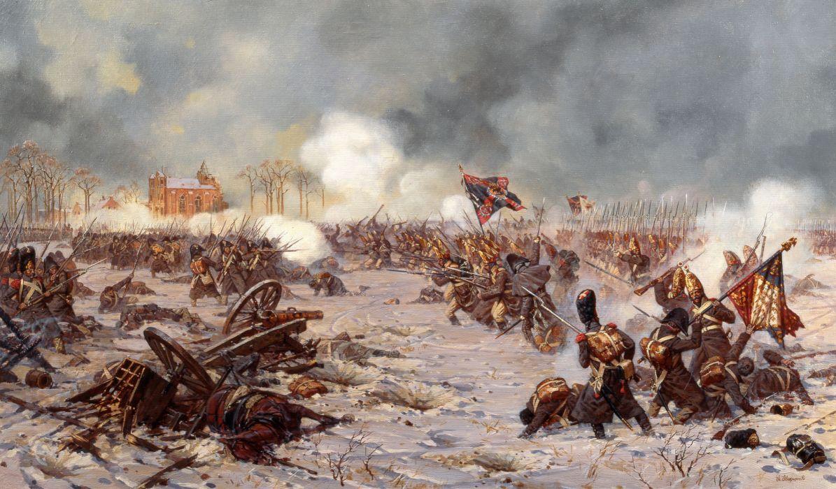 Averyanov battle military art wallpaper