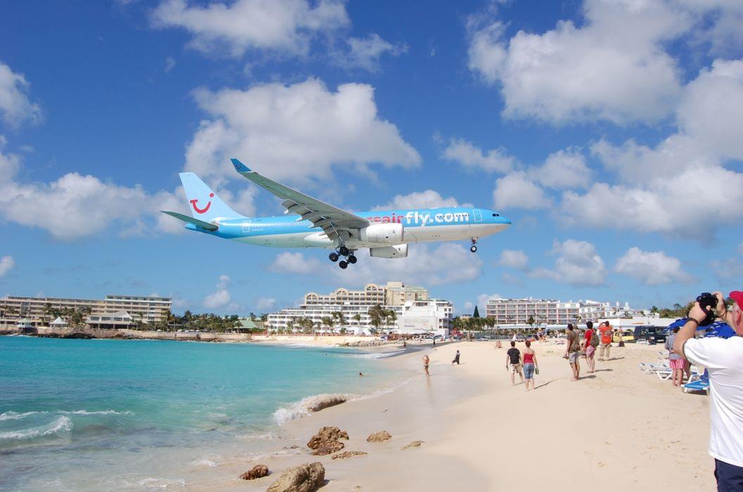 beach airplane photos wallpaper