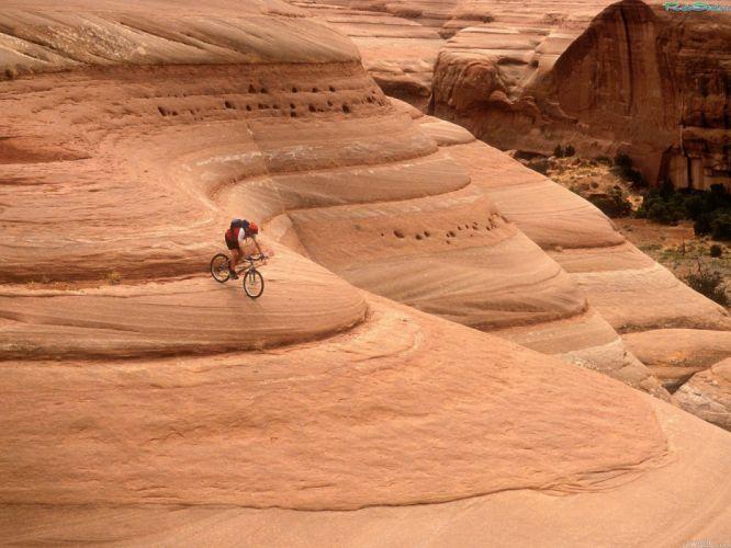 canyon cycling cyclist sports bicycle bike wallpaper