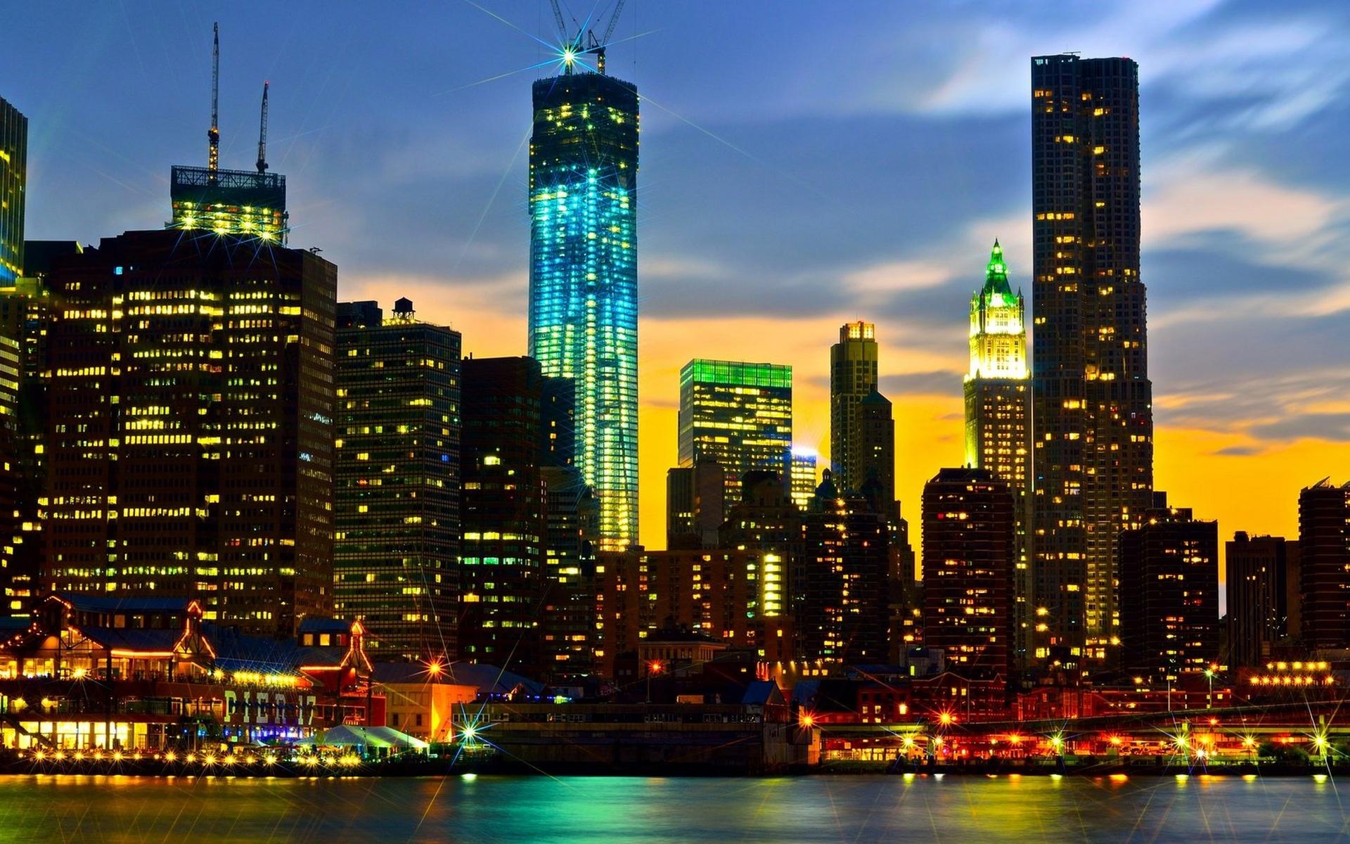 City night lights d wallpaper 1920x1200 69905 - Night light city wallpaper ...