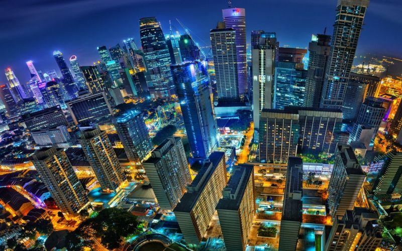 city night lights wallpaper