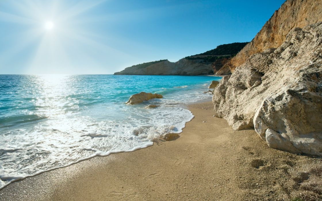 coast greece greece nature sea wallpaper