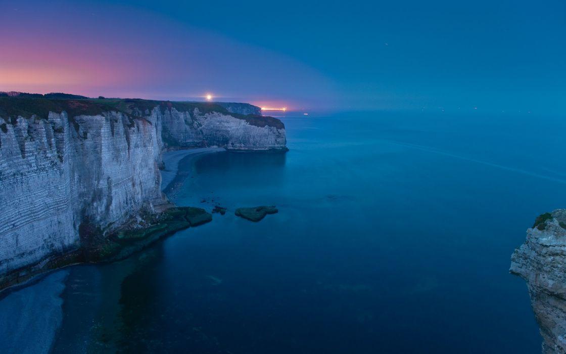 Coast Cliff Ocean wallpaper
