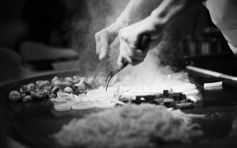 Cook Chef BW Vegetables wallpaper