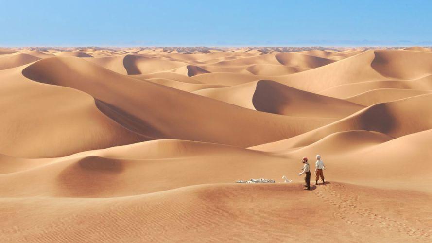 desert people get lost bones sand cartoon wallpaper