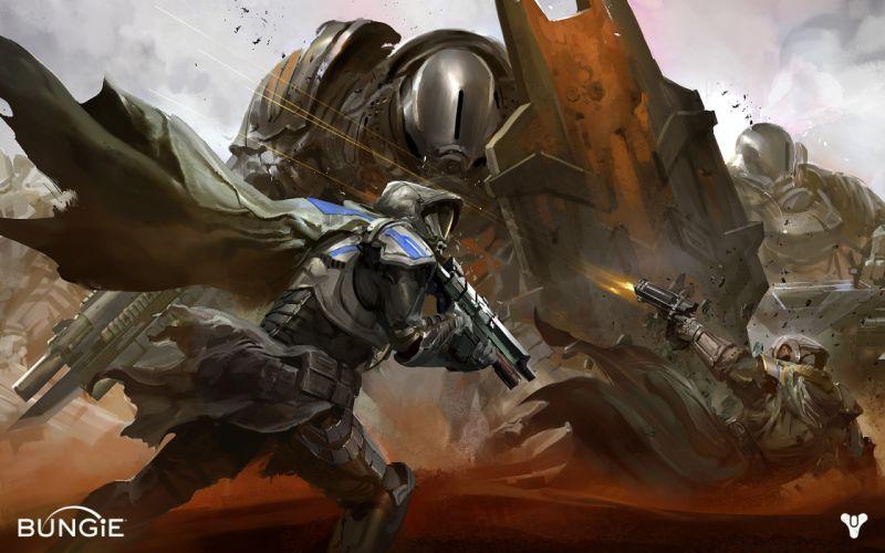 Destiny Drawing sci-fi wallpaper