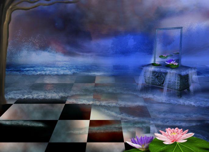 digital art 3d phantasmagoria flowers f wallpaper