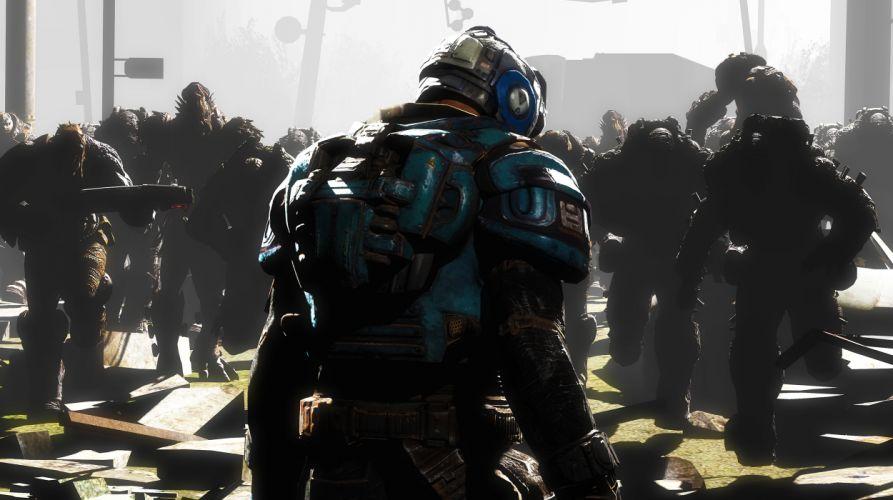 Gears of War Warriors Armor Games sci-fi wallpaper