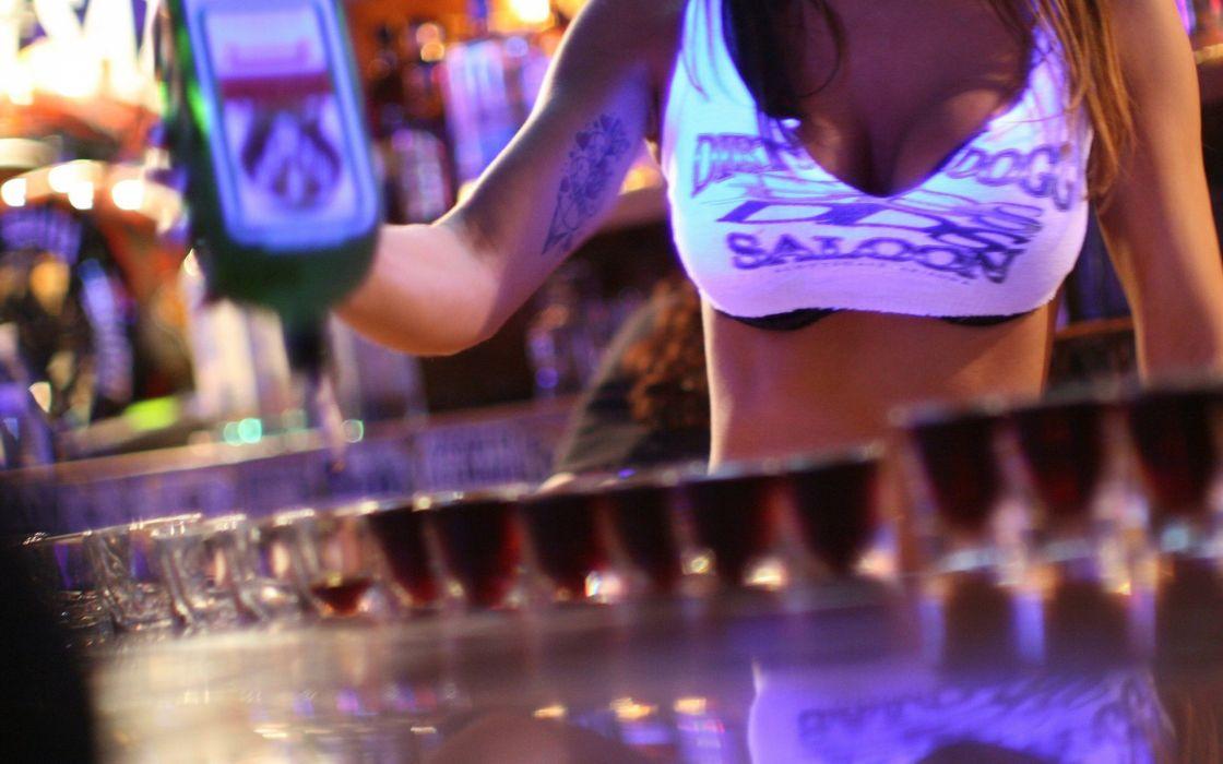 girl alcohol bottle club wallpaper