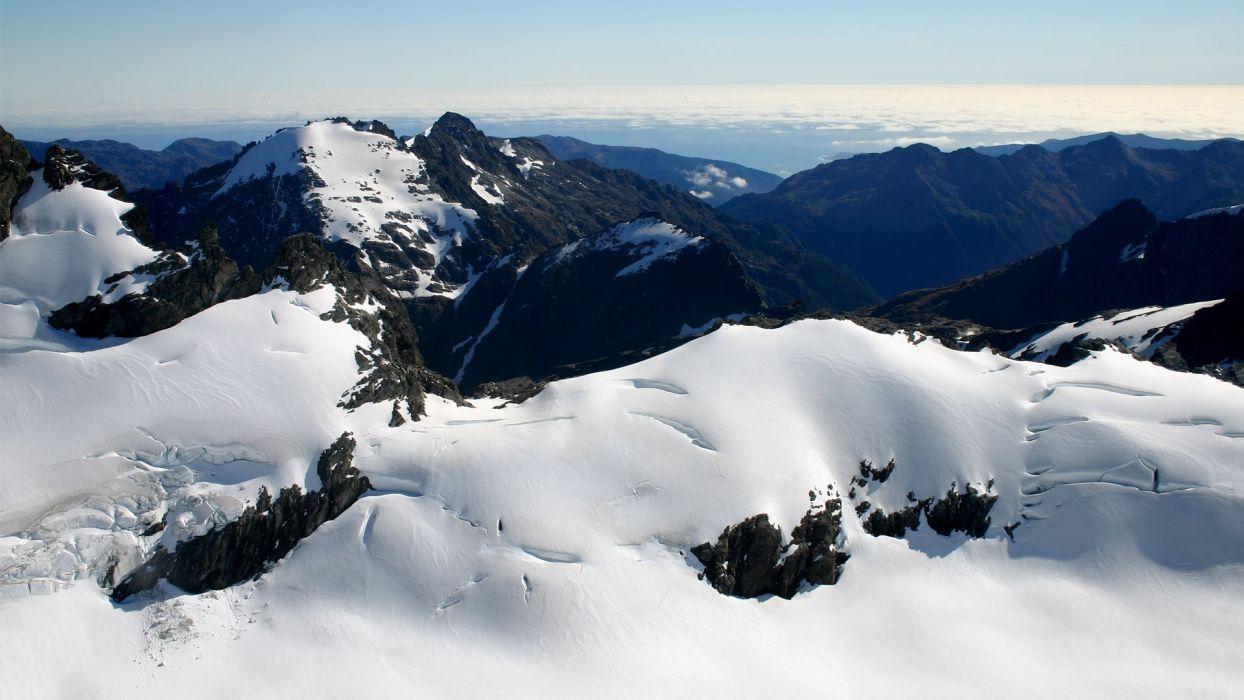 Landscape Mountains Snow wallpaper