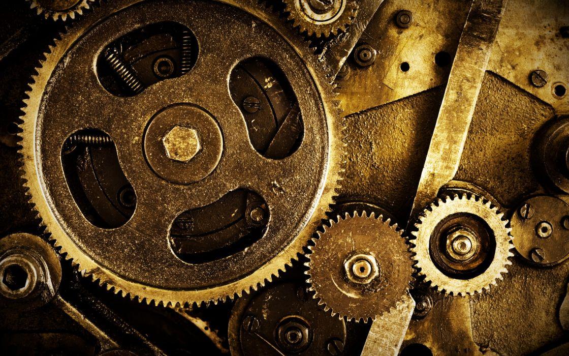 mechanism gears nuts steampunk wallpaper