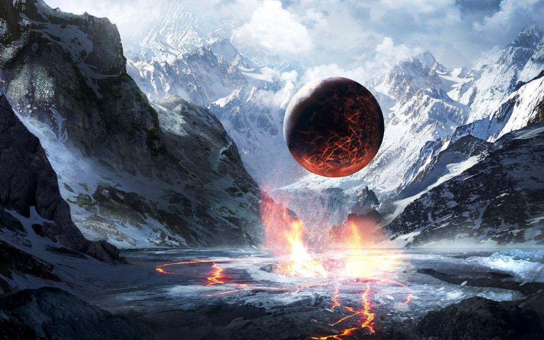 Mountains Orb wallpaper