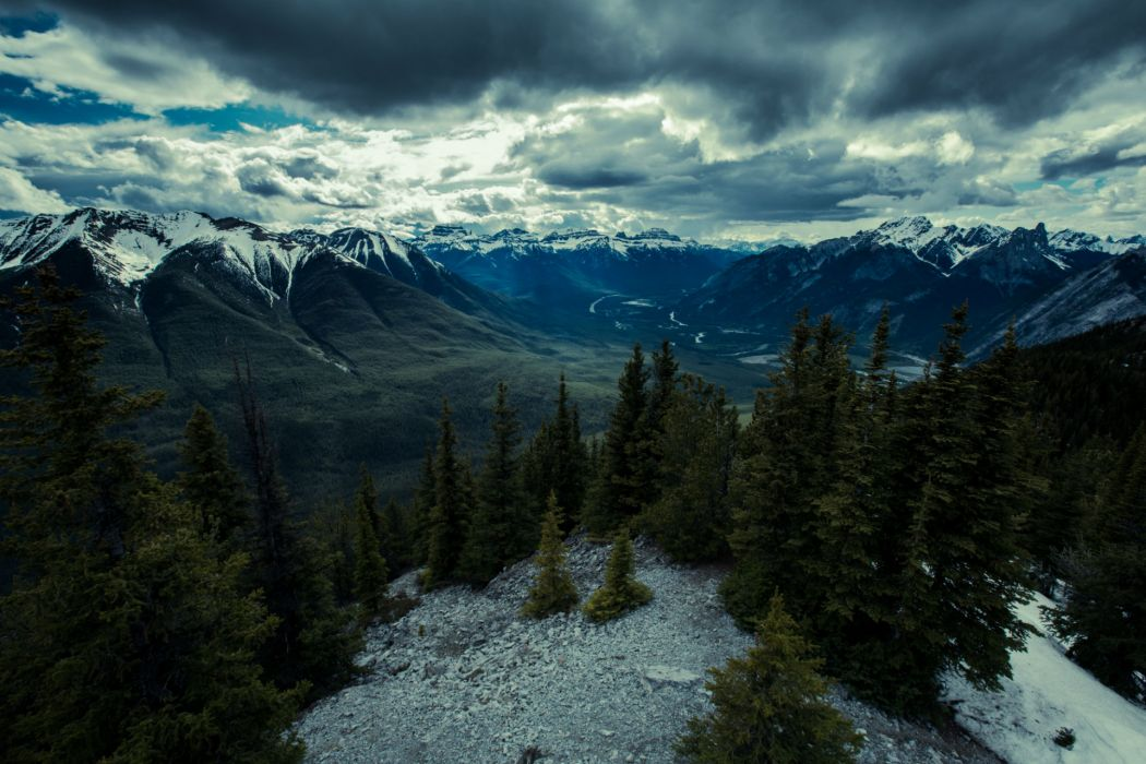 Parks Canada Mountains Scenery Banff Nature wallpaper