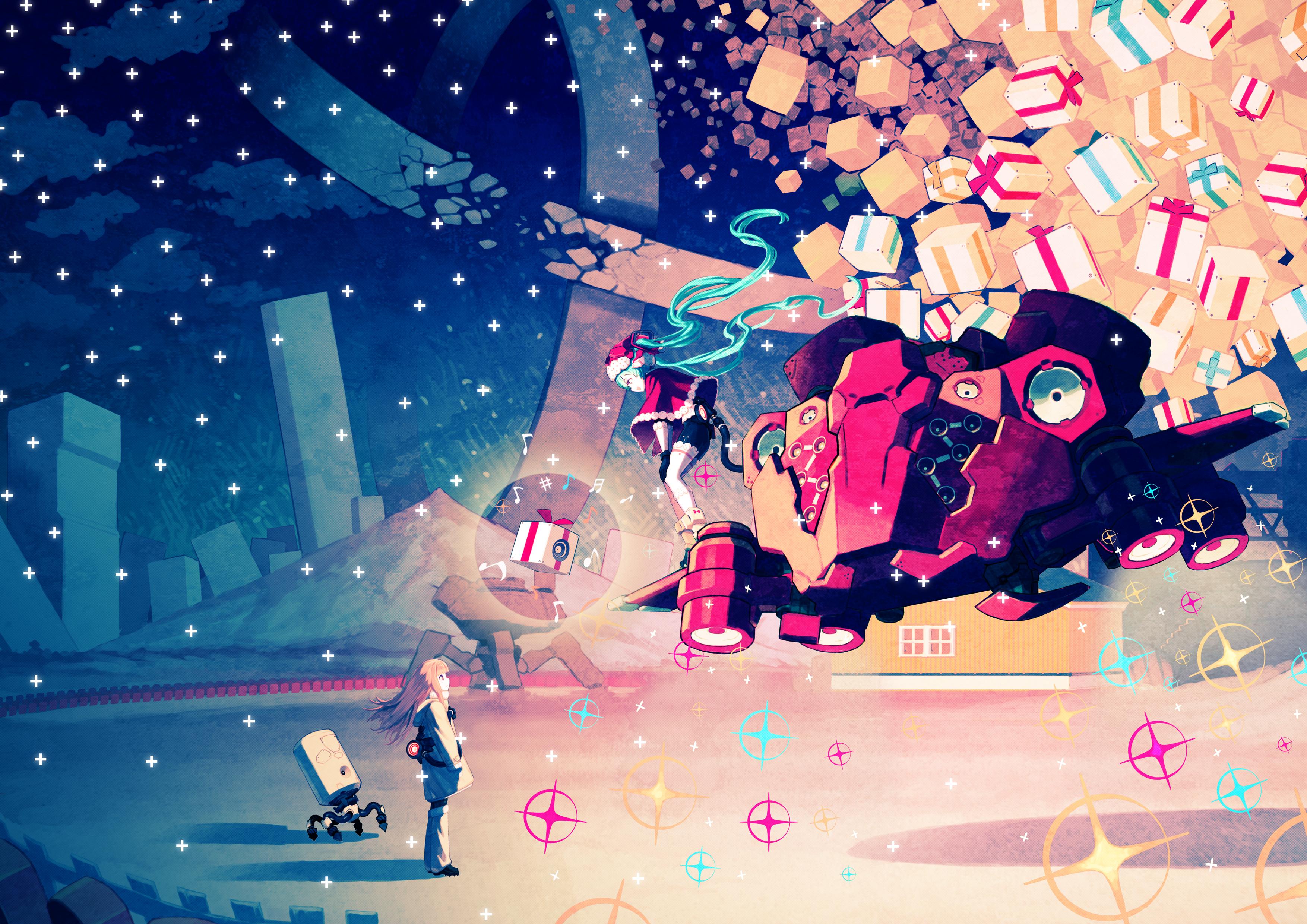 hatsune miku christmas wallpaper -#main