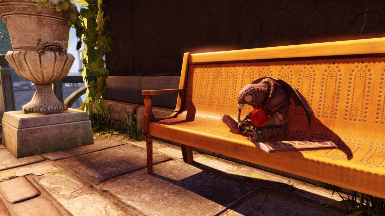 Bioshock Bioshock Infinite Songbird Plush Doll Bench wallpaper