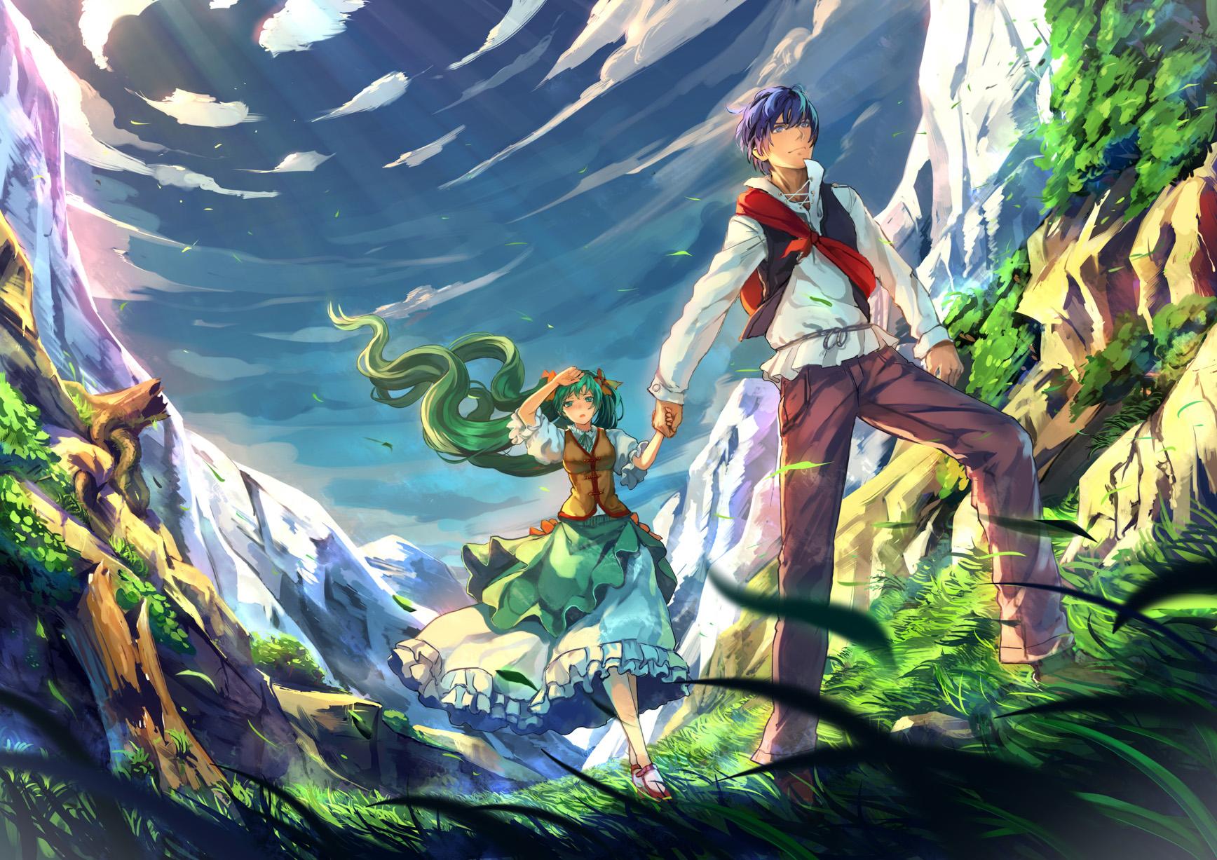 anime landscape hatsune miku - photo #35