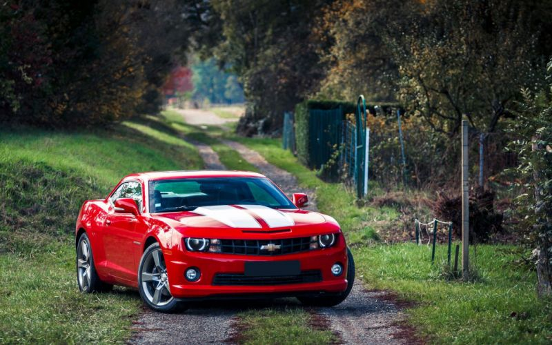 chevrolet camaro Muscle Car Red wallpaper