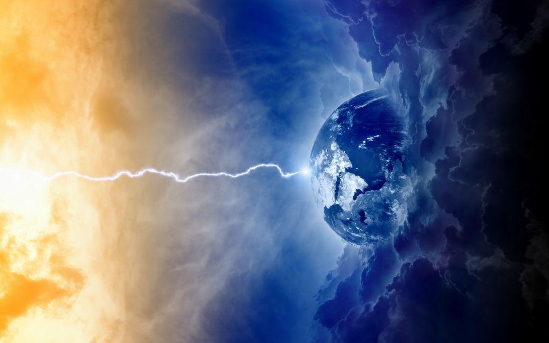 Creative Space Earth Apocalypse Wallpaper
