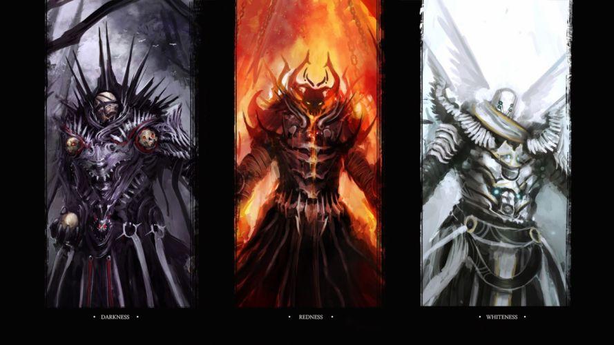 demons fantasy warriors wallpaper