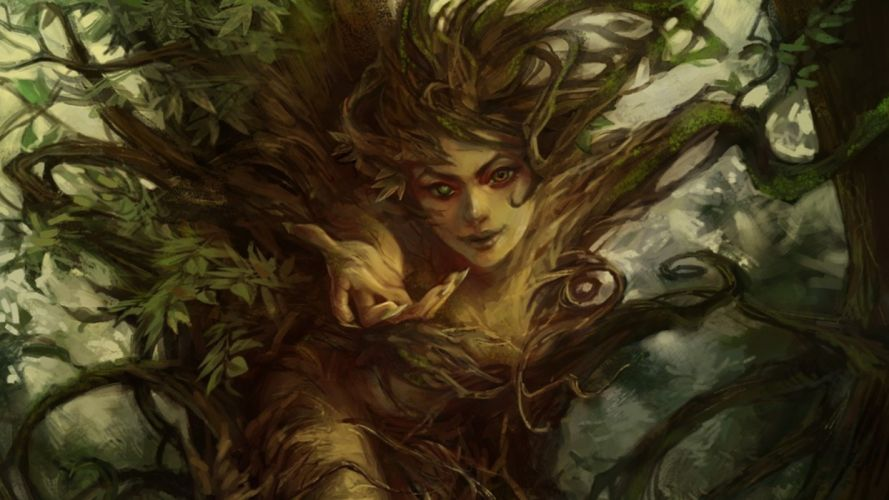 Earth Elemental women girl wallpaper