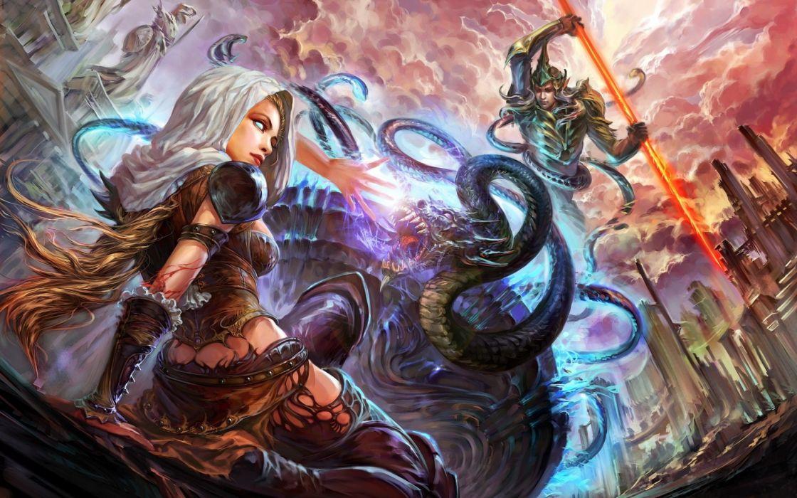 Fantasy Battle warrior wallpaper