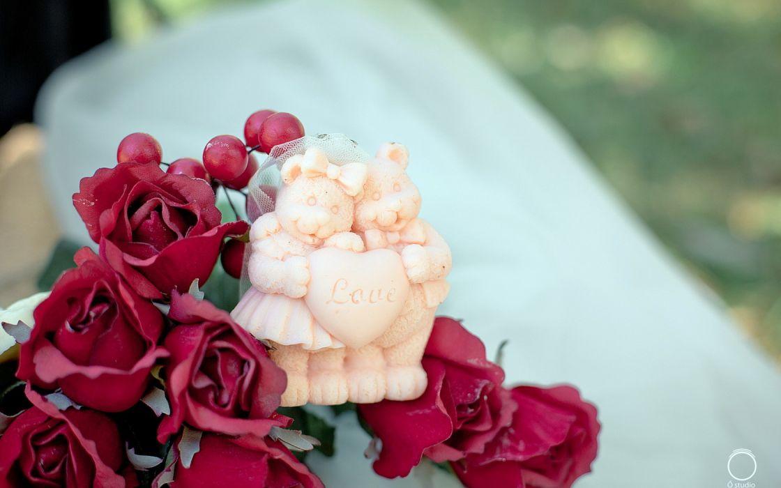 flower rose toy wallpaper