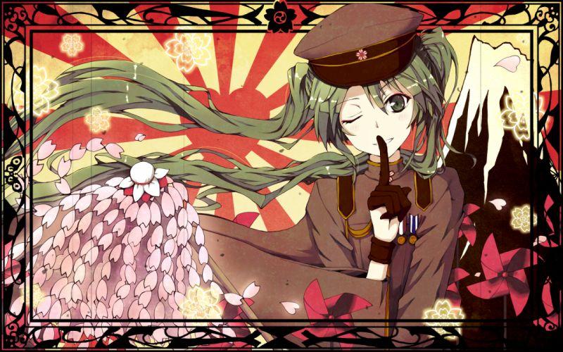 fubuki hatsune miku senbon-zakura (vocaloid) vocaloid wink wallpaper