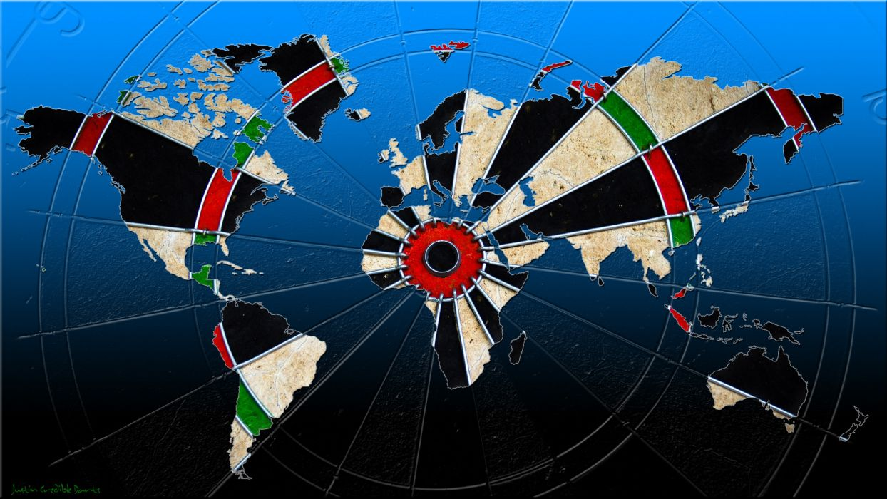 Game Darts Card World Map Wallpaper 1920x1080 70437