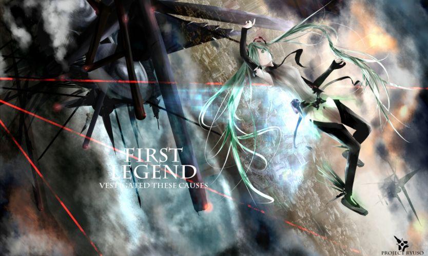 green eyes green hair hatsune miku long hair miku append vocaloid wallpaper