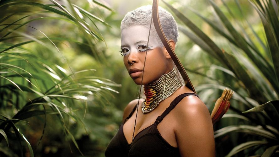 kelis singer video savage jungle thickets bow arrows colors decoration beads wallpaper