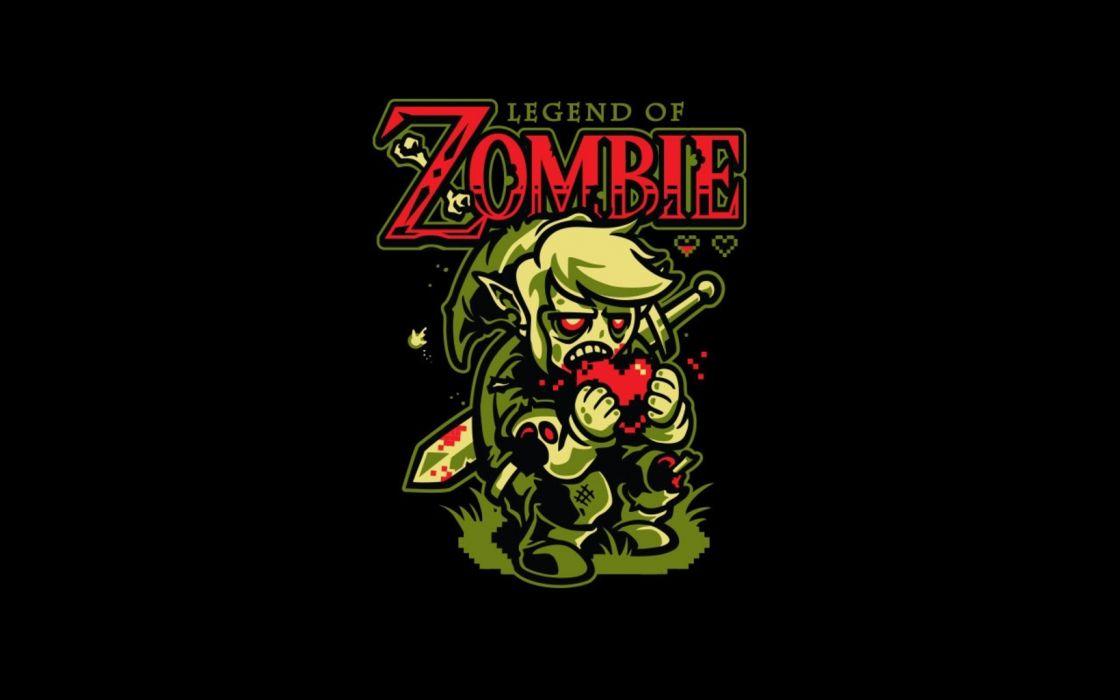 legend of zombie zelda dark wallpaper