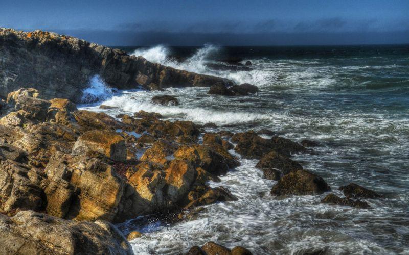 sea rocks landscape wallpaper