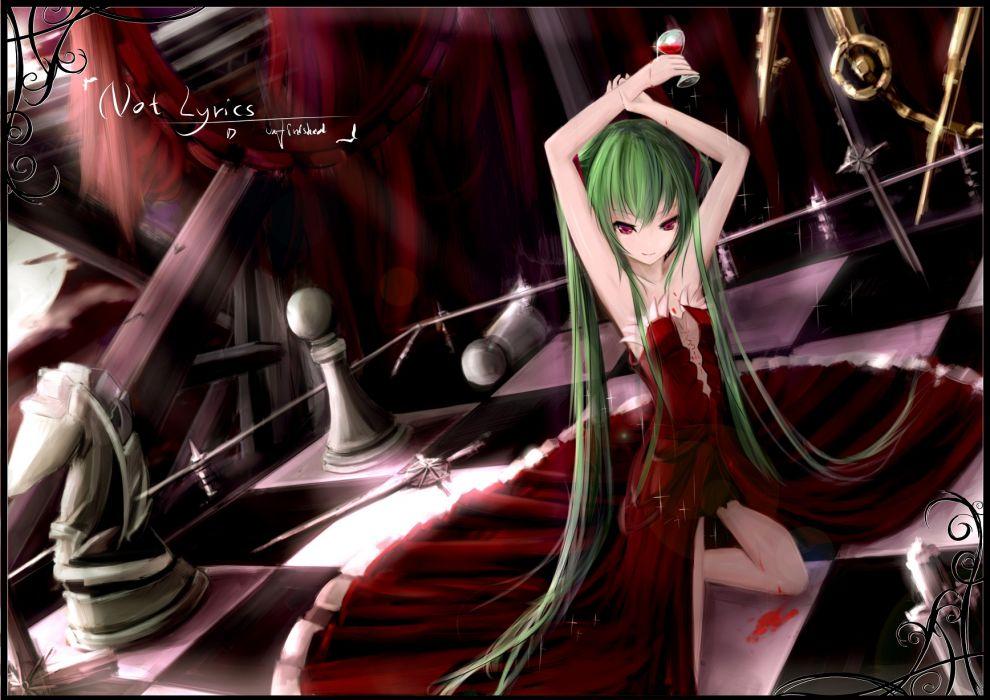 hatsune miku hc vampire vocaloid weapon wallpaper