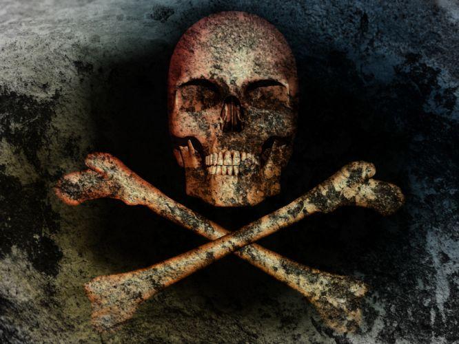 skull bones death wallpaper