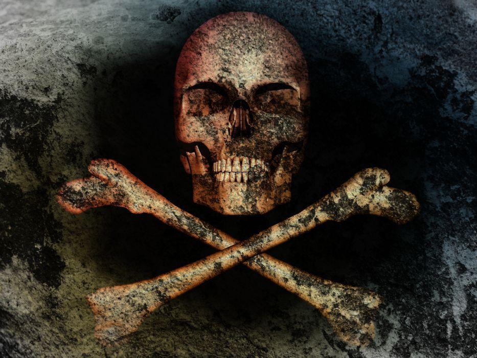 Skull Bones Death Wallpaper 1600x1200 70754 Wallpaperup