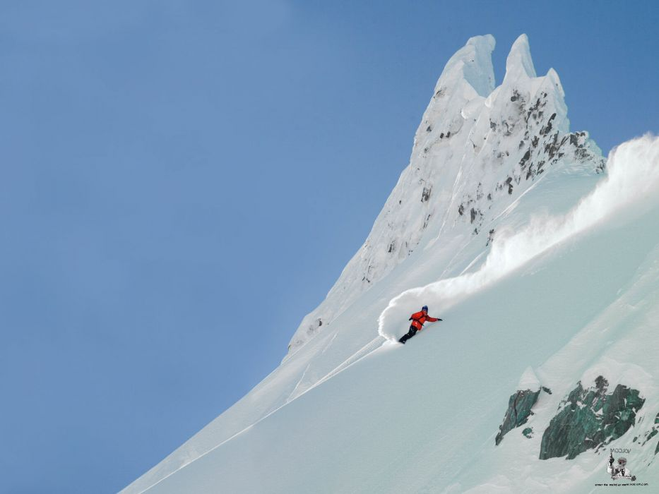 snowboard winter mountains sports extreme wallpaper
