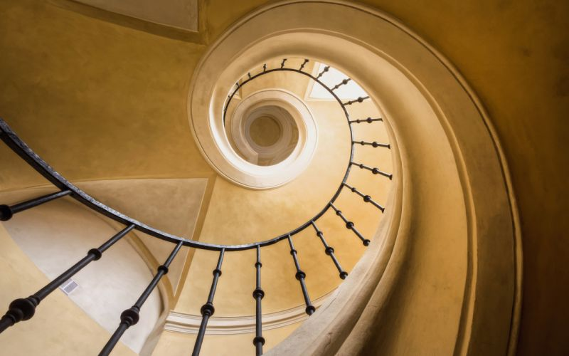 Stairs Staircase Spiral wallpaper