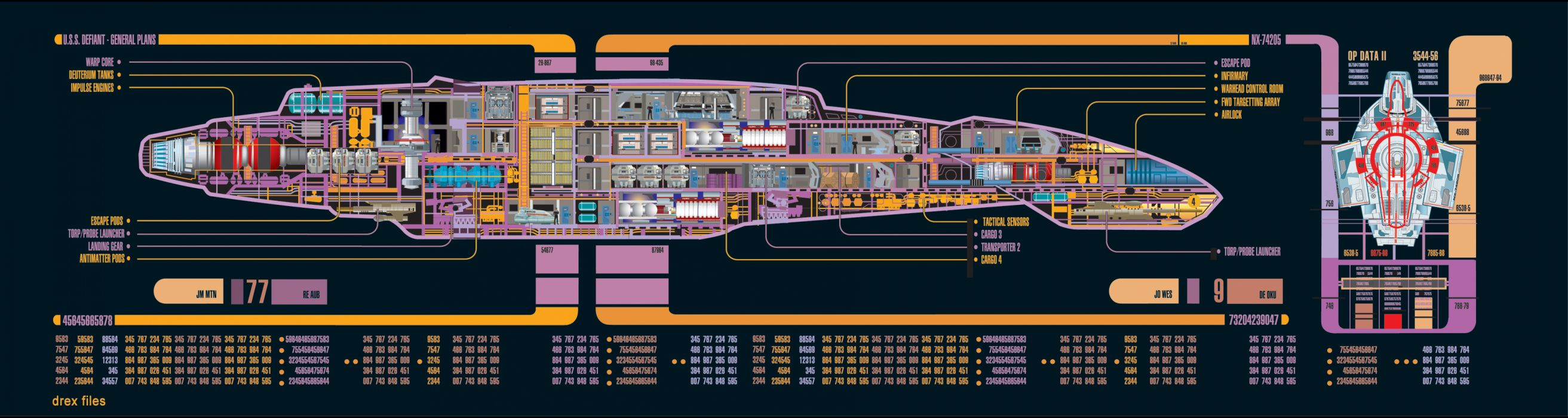 Star Trek Starship Defiant Spaceship wallpaper